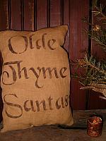 Olde Thyme Santas pillow or towel