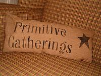 primitive gatherings pillow with star