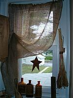 no sew small window burlap curtains