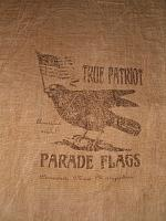 True Patriot Parade Flags flour sack items