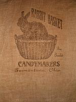 Rabbit Basket Candy Makers flour sack items