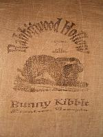 Rabbitwood Hollow Bunny Kibble flour sack items