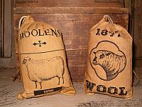 stuffed wool ditty bags