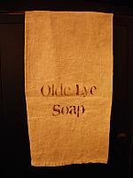 olde lye soap towel