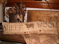 Rectangular  sheep wool pillow