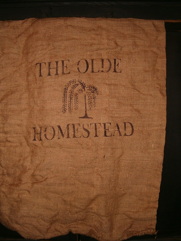 the olde homestead large burlap sack