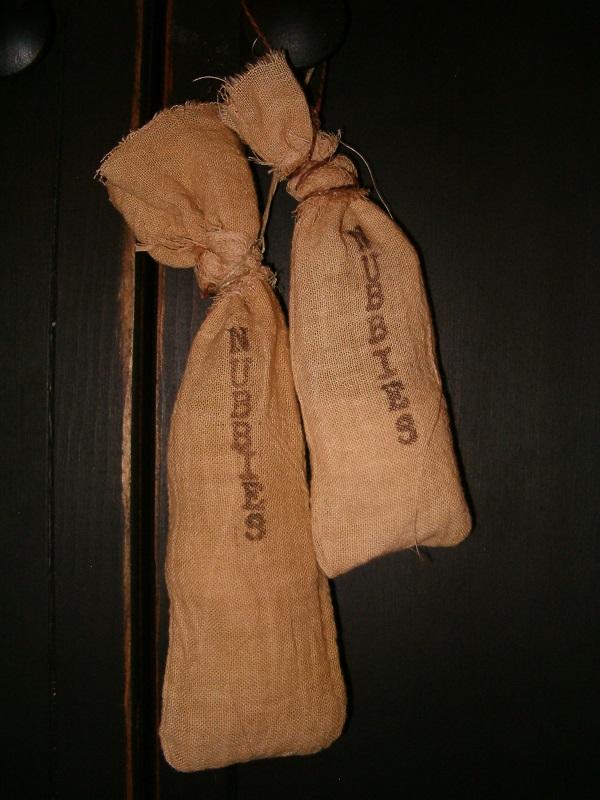 nubby floursack hangers