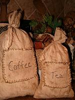 coffee and tea sack set