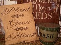 plant grow bloom pillow