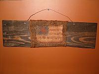 floursack flag barnwood hanger