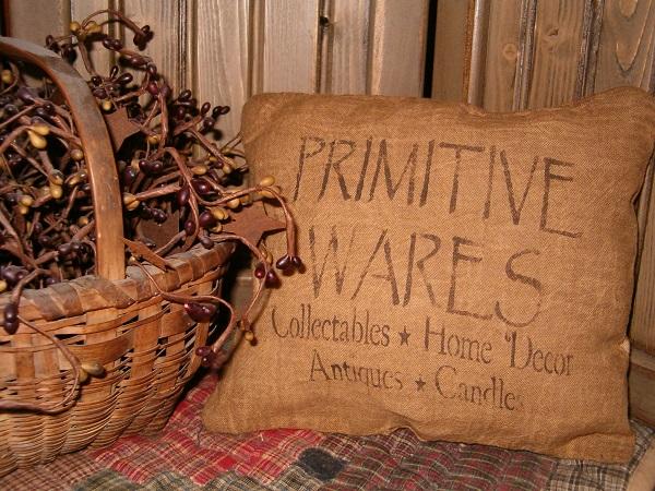 primitive wares pillow