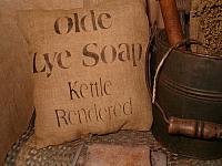 Olde Lye Soap pillow