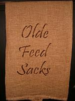 olde feed sacks towel
