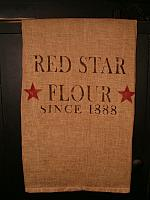 Red Star flour towel