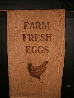 farm fresh eggs towel