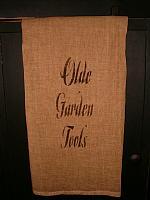 olde garden tools towel