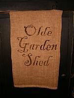 olde garden shed towel