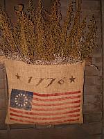 1776 flag sweet annie sack