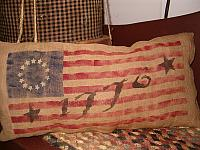 small 1776 flag pillow