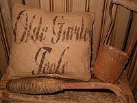 olde garden tools pillow
