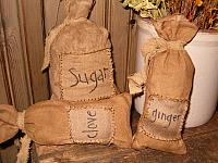 sugar clove or ginger patched sacks