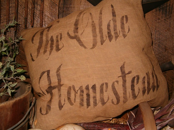 the olde homestead pillow