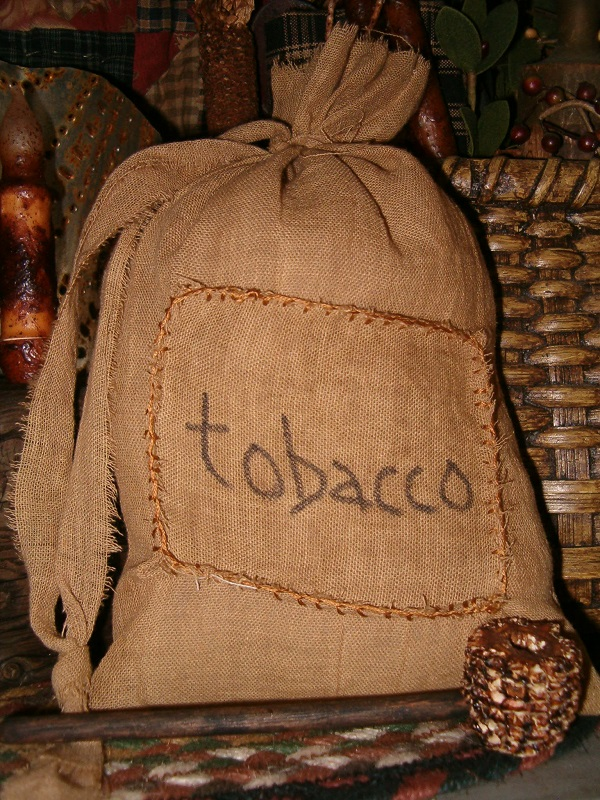 tobacco patched ditty bag