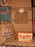 white laundry soap ditty bag