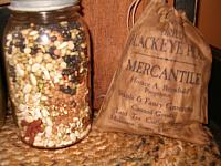 Mercantile dried black eyed peas ditty bag