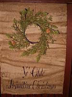 ye olde primitive Christmas table runner