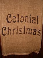 Colonial Christmas towel