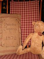 primitive Christmas 1872 pillow