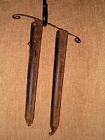 2 candle mantel hanger