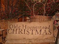 Olde Homestead Christmas pillow