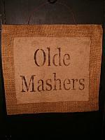 Olde Mashers burlap hanger