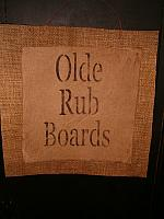 Olde Rub Boards burlap hanger