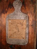 Olde Annie Bird Cornmeal advertising board