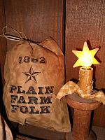 Plain Farm Folk stuffed ditty bag