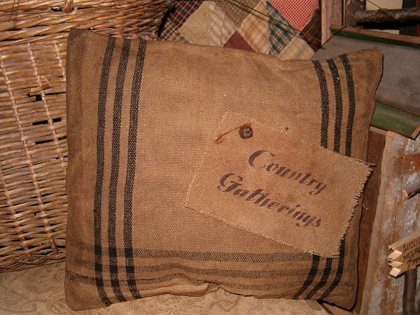 country gatherings heirloom pillow