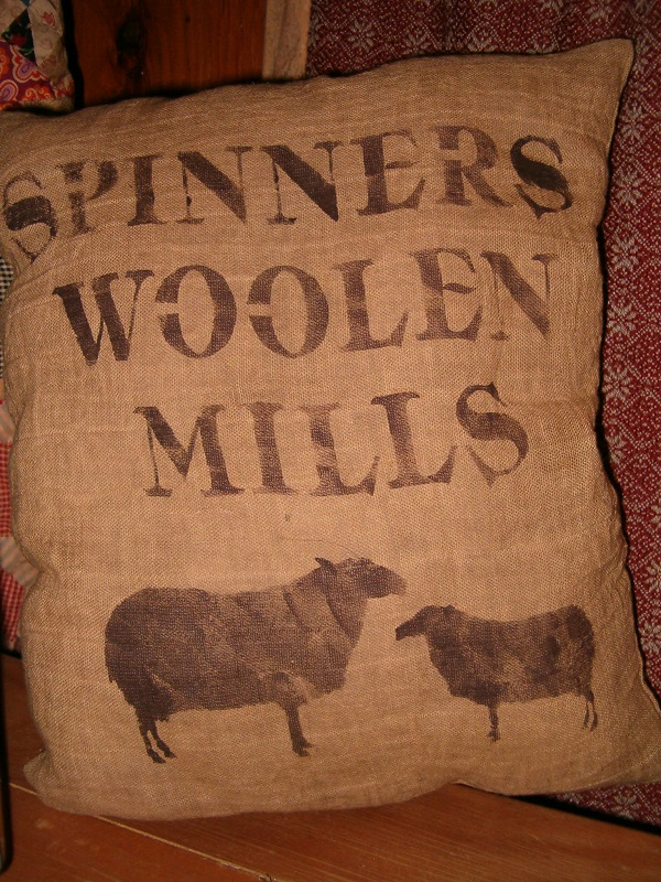 spinners woolen mills pillow