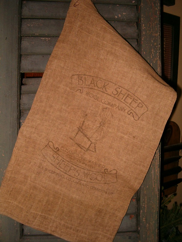 black sheep wool company flour sack