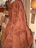 red gingham prairie bonnet