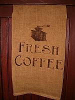 Fresh Coffee with grinder towel