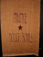 primitive dough bowls towel