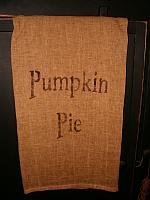 pumpkin pie towel