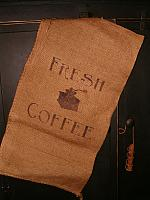 Fresh Coffee with grinder burlap sack