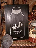 BALL mason jar sign