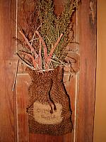 carrot seed burlap sack