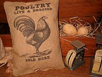 Poultry sold here pillow