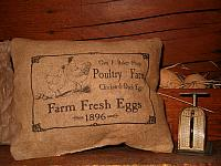 Poultry Farm Fresh Eggs pillow